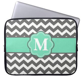 Protection Pour Ordinateur Portable Douille grise et turquoise d'ordinateur portable d