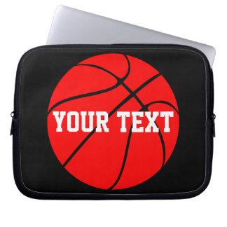 Protection Pour Ordinateur Portable Douille rouge d'ordinateur portable de basket-ball