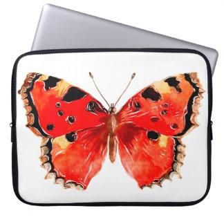 Protection Pour Ordinateur Portable Douille rouge d'ordinateur portable de papillon