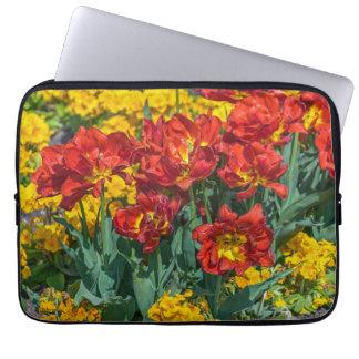 Protection Pour Ordinateur Portable Douille rouge et jaune d'ordinateur portable de