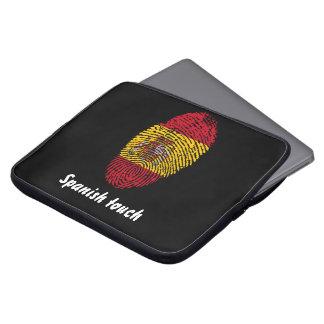 Protection Pour Ordinateur Portable Drapeau d'empreinte digitale de contact d'Espagnol