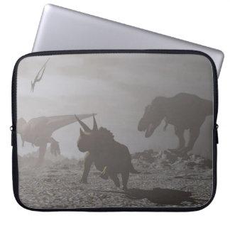 Protection Pour Ordinateur Portable Extinction des dinosaures - 3D rendent