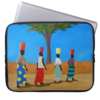 Protection Pour Ordinateur Portable Femmes africaines colorées portant des seaux