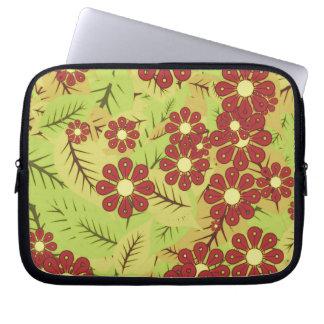 Protection Pour Ordinateur Portable Feuillage et fleurs
