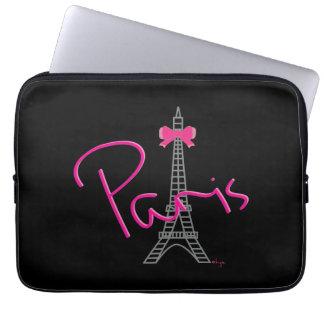 Protection Pour Ordinateur Portable Graphique de cool de noir de Tour Eiffel de Paris