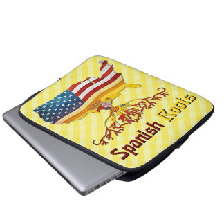 Protection Pour Ordinateur Portable L'Espagnol américain enracine la couverture