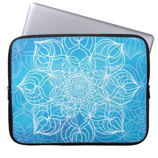 Protection Pour Ordinateur Portable Mandala bleu