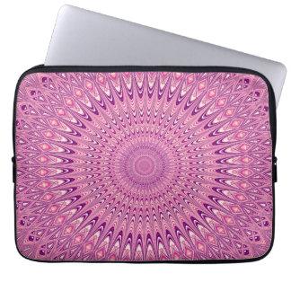 Protection Pour Ordinateur Portable Mandala rose d'étoile