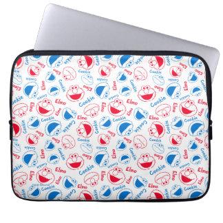 Protection Pour Ordinateur Portable Monstre et Elmo de biscuit motif rouge et bleu de