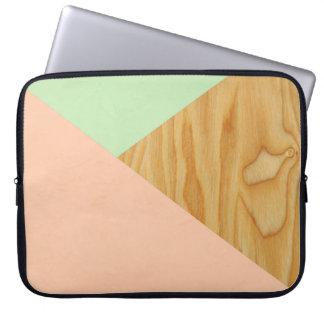 Protection Pour Ordinateur Portable Motif d'abrégé sur en bois et pastel