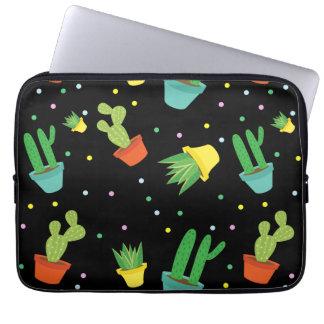 Protection Pour Ordinateur Portable Motif de pois succulent mignon de cactus