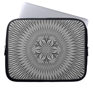 Protection Pour Ordinateur Portable Motif floral dans le monochrome
