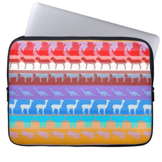 Protection Pour Ordinateur Portable Motif moderne #2 de rayures de rétros animaux