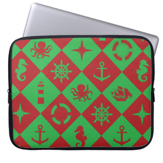Protection Pour Ordinateur Portable Motif nautique de Noël