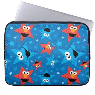Protection Pour Ordinateur Portable Motif patriotique d'Elmo et de monstre de biscuit