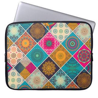 Protection Pour Ordinateur Portable Patchwork de Bohème coloré de mandala
