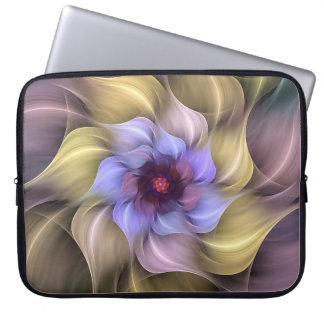 Protection Pour Ordinateur Portable Pétales de tourbillonnement de fleur en pastel de
