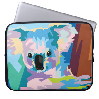 Protection Pour Ordinateur Portable Portrait coloré de koala d'art de bruit