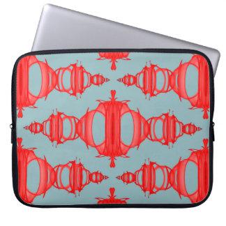 Protection Pour Ordinateur Portable Rouge et gris de cerise des diviseurs 03 de motif
