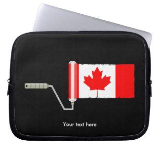 Protection Pour Ordinateur Portable Rouleau de peinture canadien de drapeau