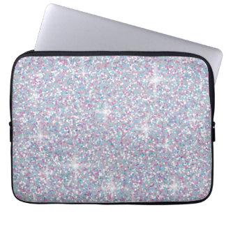 Protection Pour Ordinateur Portable Scintillement iridescent blanc