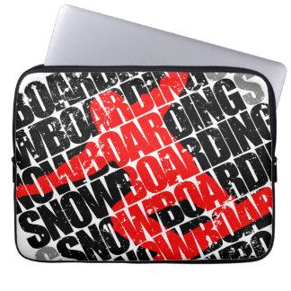 Protection Pour Ordinateur Portable Snowboarding #1 (noir)