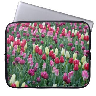 Protection Pour Ordinateur Portable Tulipes colorées de ressort