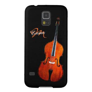 Protections Galaxy S5 Caisse de Samsung personnalisée par violoncelle S5