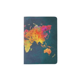 Protège-passeport Carte du monde de supports et de couvertures de