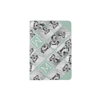 Protège-passeport Monogramme unique vert en bon état de coutume de