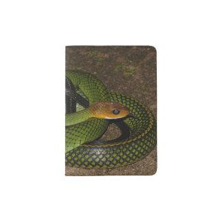 Protège-passeport Ratsnake Noir-mis en marge ou serpent de rat vert