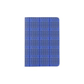 Protège-passeport Support bleu sophistiqué de passeport de plaid