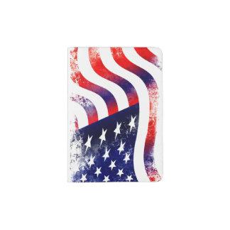 Protège-passeport Support de passeport de drapeau des Etats-Unis