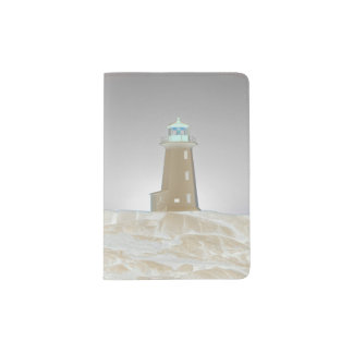 Protège-passeport Support de passeport de phare de la crique de