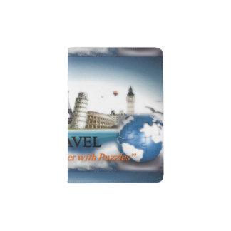Protège-passeport Support de passeport de voyage de puzzles