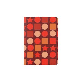 Protège-passeport Support géométrique à l'orange de passeport