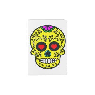 Protège-passeport support mexicain de passeport de crâne