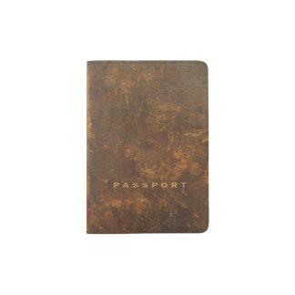 Protège-passeport Vieux cuir