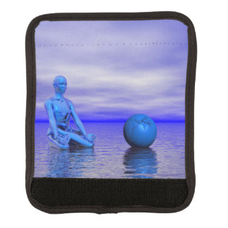 Protège Poignée Pour Bagage bleu et paysage de chakra