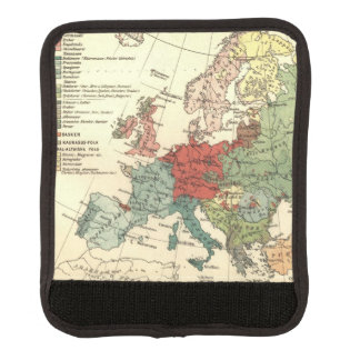 Protège Poignée Pour Bagage Carte d'antiquité de cru de l'Europe