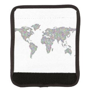 Protège Poignée Pour Bagage Carte du monde