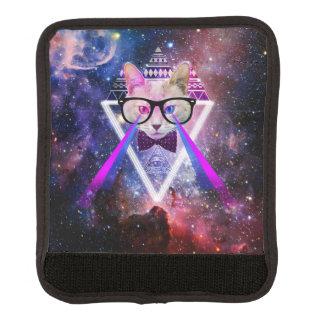 Protège Poignée Pour Bagage Chat de galaxie de hippie