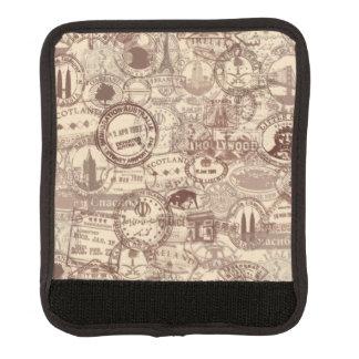 Protège Poignée Pour Bagage Enveloppe vintage de poignée de bagage de timbres