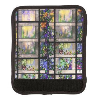 Protège Poignée Pour Bagage Fleurs en verre souillé de Nouveau Tiffany d'art