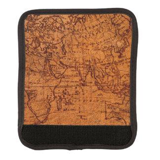 Protège Poignée Pour Bagage Hémisphère oriental de Vieux Monde de carte