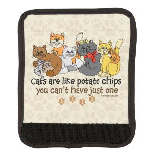 Protège Poignée Pour Bagage Les chats sont comme des pommes chips