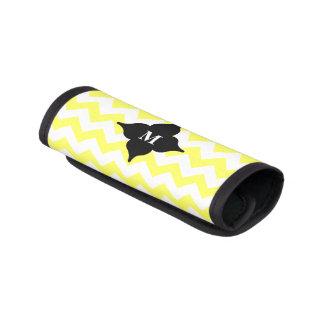 Protège Poignée Pour Bagage Monogramme noir et jaune de chevron