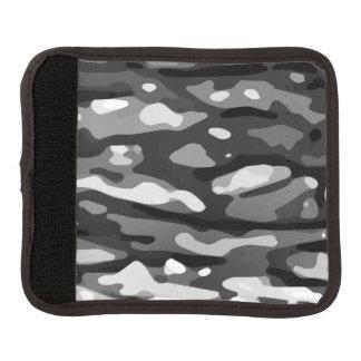 Protège Poignée Pour Bagage Motif blanc noir à la mode d'abrégé sur gris