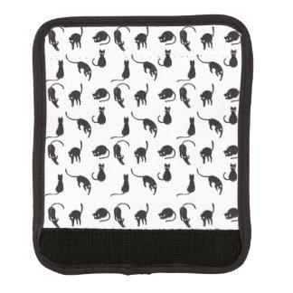 Protège Poignée Pour Bagage Motif de chats noirs