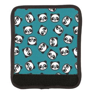 Protège Poignée Pour Bagage Motif noir et blanc de bande dessinée de panda
